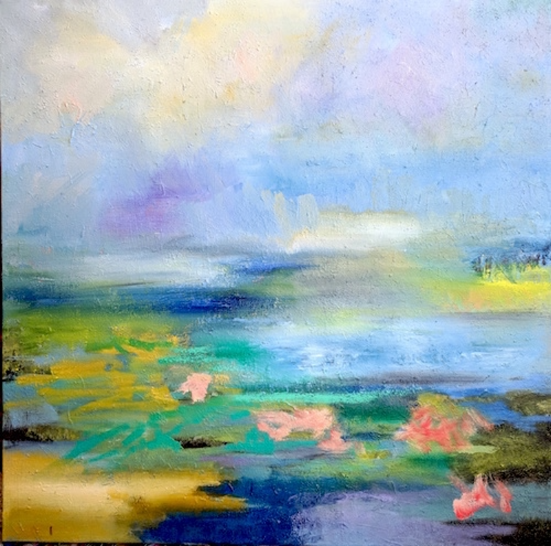 (CreativeWork) Dream of Water by RT Wenzel. oil-painting. Shop online at Bluethumb.