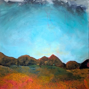 (CreativeWork) Red Country by RT Wenzel. oil-painting. Shop online at Bluethumb.