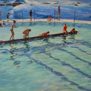 (CreativeWork) Play (Bronte Baths) by Camellia Morris. #<Filter:0x000055727383f960>. Shop online at Bluethumb.