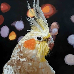 (CreativeWork) Celeste always knew she was destined for the spotlight by Karen Bloomfield. oil-painting. Shop online at Bluethumb.