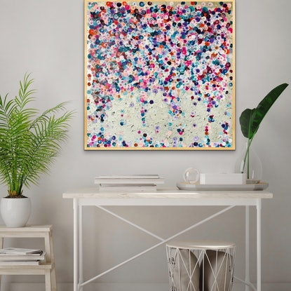 (CreativeWork) Silver drift framed  by Sophie Lawrence. Acrylic Paint. Shop online at Bluethumb.