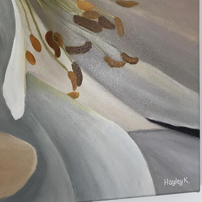 (CreativeWork) I dream in flowers by Hayley Kruger. Acrylic Paint. Shop online at Bluethumb.