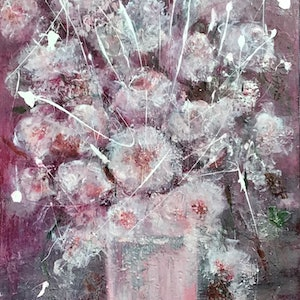 (CreativeWork) Coconut Ice  by Louise Croese. mixed-media. Shop online at Bluethumb.