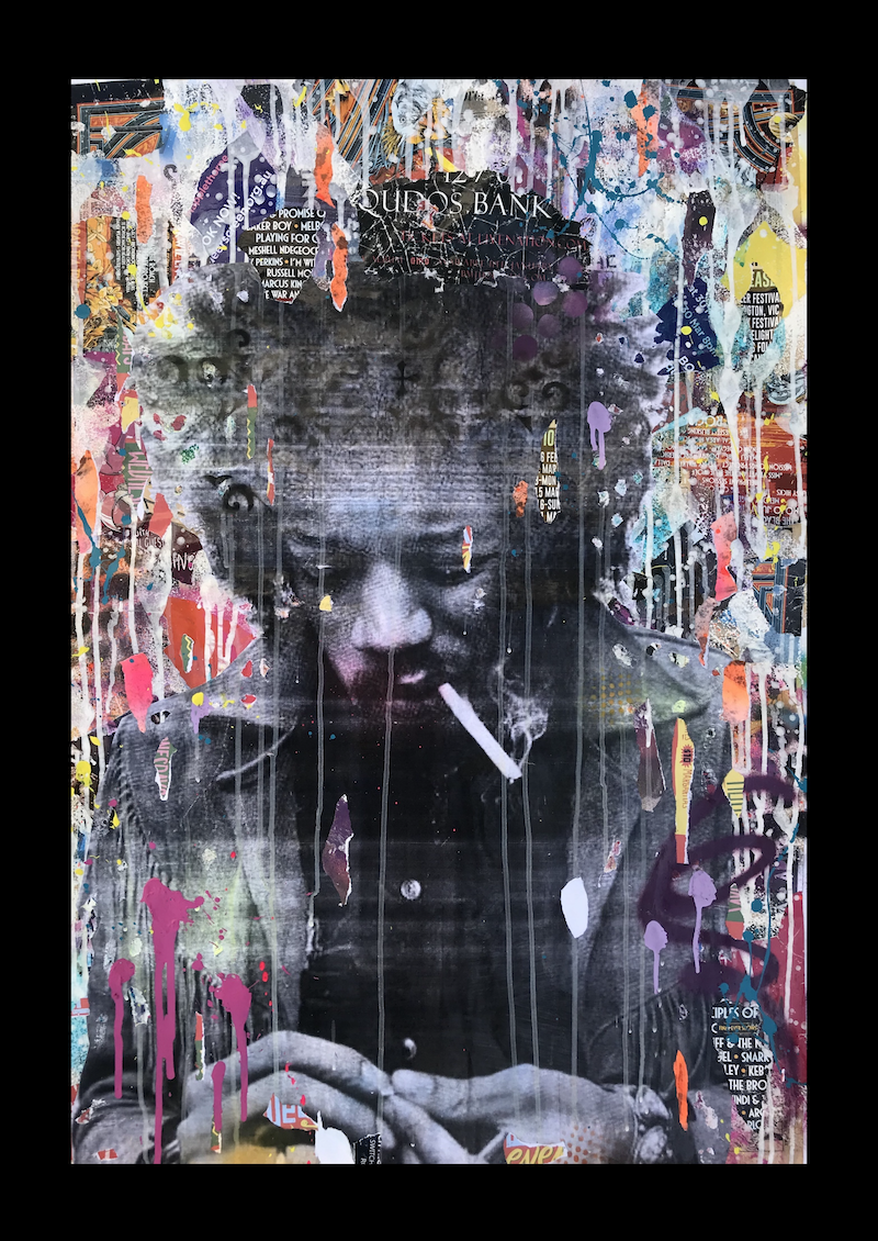 (CreativeWork) Smokin' by Cold Ghost. mixed-media. Shop online at Bluethumb.