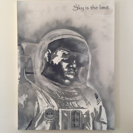 (CreativeWork) THE SKY IS THE LIMIT by Adam Todd. Acrylic. Shop online at Bluethumb.