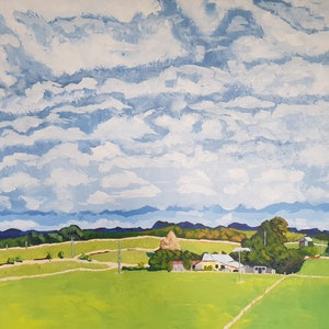 (CreativeWork) Looking Towards the Tarkine by David Foster. arcylic-painting. Shop online at Bluethumb.