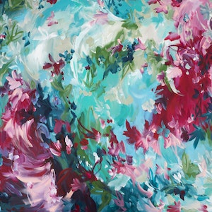 (CreativeWork) Romantic Spell by Amber Gittins. arcylic-painting. Shop online at Bluethumb.
