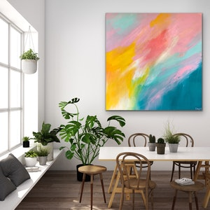 (CreativeWork) Shepherd's Delight - Large Abstract by Emma Wreyford. acrylic-painting. Shop online at Bluethumb.
