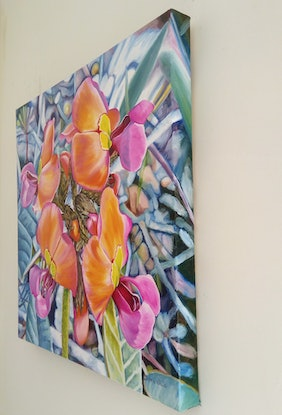 (CreativeWork) Coral Delight by Delma White. Oil Paint. Shop online at Bluethumb.