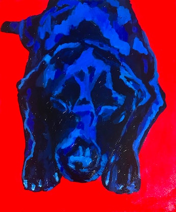 (CreativeWork) I be waiting for dinner now by Sharron Okines. Oil Paint. Shop online at Bluethumb.