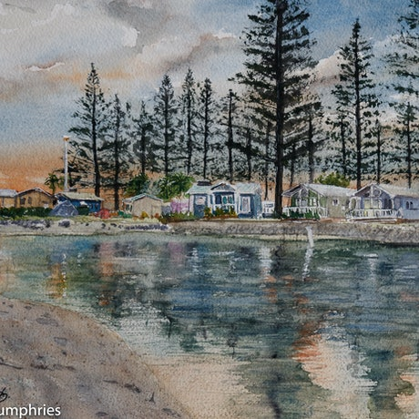 (CreativeWork) Early Reflections by David Humphries. Watercolour Paint. Shop online at Bluethumb.