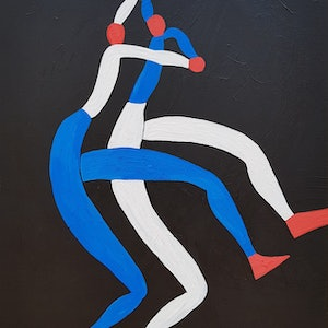 (CreativeWork) Dance Duet #1 by Yiwei Shi. acrylic-painting. Shop online at Bluethumb.