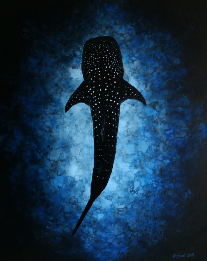 (CreativeWork) The Deep Blue by Bec Bartell. acrylic-painting. Shop online at Bluethumb.