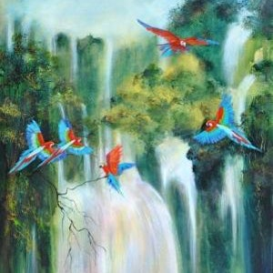 (CreativeWork) Flying Free by Colleen Clark. arcylic-painting. Shop online at Bluethumb.