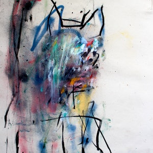 (CreativeWork) Study of a dog by James Green. mixed-media. Shop online at Bluethumb.