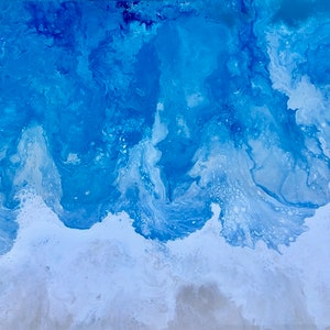 "(CreativeWork) Ocean coastal inspired painting ""Shroreline 2"" by Debra Ryan. mixed-media. Shop online at Bluethumb."