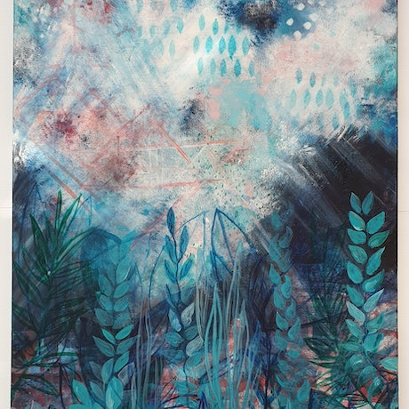 (CreativeWork) Underwater by Fleur Louise Belle. Acrylic Paint. Shop online at Bluethumb.