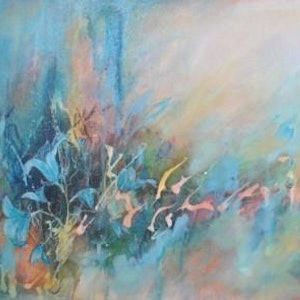 (CreativeWork) Imperial Blue by Colleen Clark. acrylic-painting. Shop online at Bluethumb.