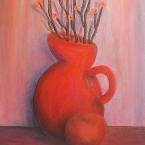 (CreativeWork) The Colour Series: In Bloom, Scarlet love by Sarah Walker. arcylic-painting. Shop online at Bluethumb.