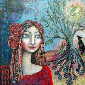 (CreativeWork) Within the Dreaming Tree by Cheryle Bannon. mixed-media. Shop online at Bluethumb.