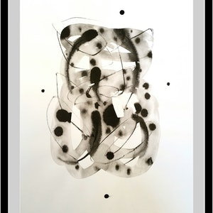 "(CreativeWork) Spots and Stripes 5 a.k.a ""Baby Jaguar"" by Olga Kolesnik. drawing. Shop online at Bluethumb."