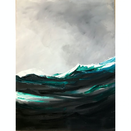 (CreativeWork) The Swell by Monique M. Mixed Media. Shop online at Bluethumb.