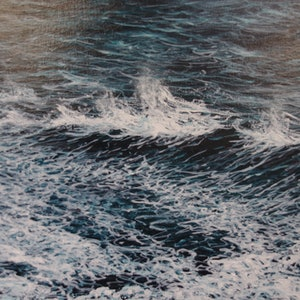 (CreativeWork) A Darker Ocean by GEOFF WINCKLE. oil-painting. Shop online at Bluethumb.