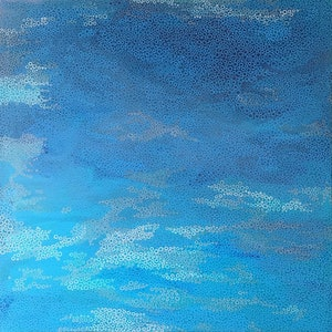 (CreativeWork) Ocean clouds by Jennifer Bell. arcylic-painting. Shop online at Bluethumb.