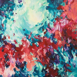 (CreativeWork) Wild Love by Amber Gittins. arcylic-painting. Shop online at Bluethumb.