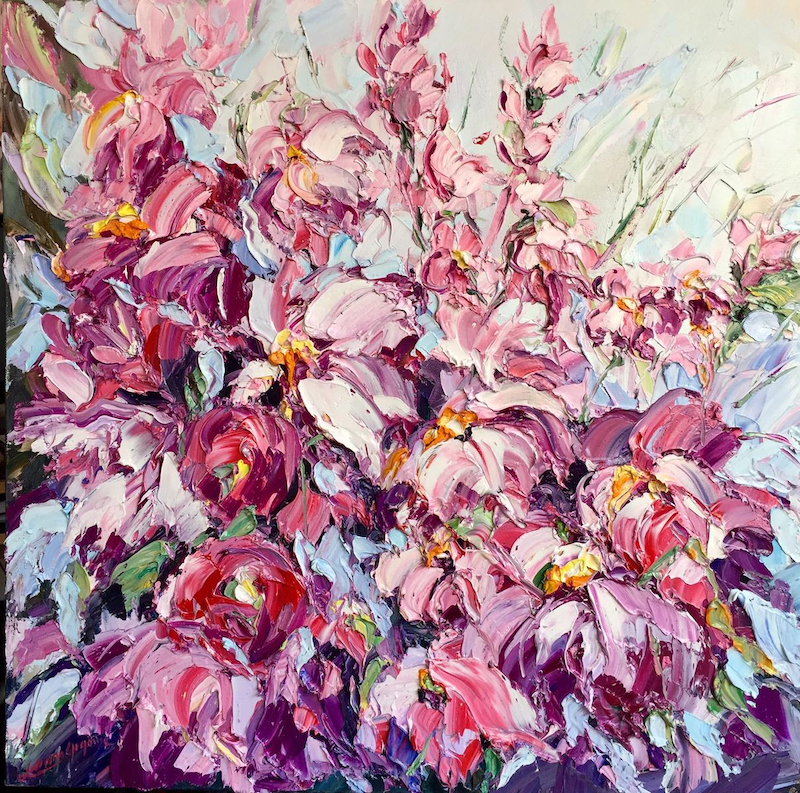 (CreativeWork) Endless love by Liliana Gigovic. Oil Paint. Shop online at Bluethumb.