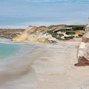 (CreativeWork) Port Willunga Study II by Roland Weight. oil-painting. Shop online at Bluethumb.