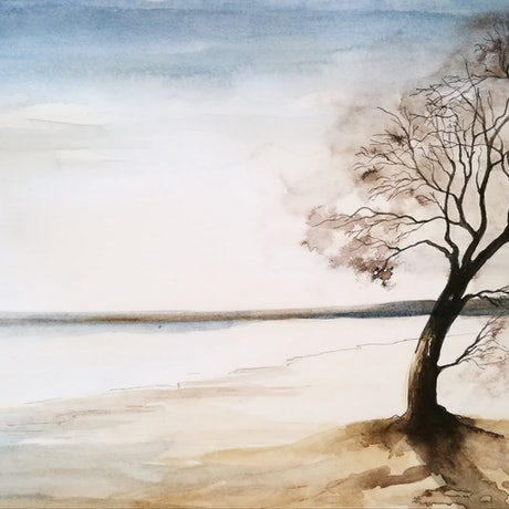 (CreativeWork) Last Days' Moment by Lucinda Leveille. Watercolour Paint. Shop online at Bluethumb.