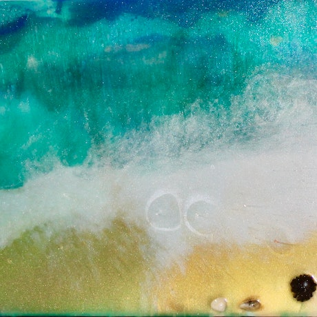 (CreativeWork) Kangaroo Island Beach by Kit McNeill. Resin. Shop online at Bluethumb.