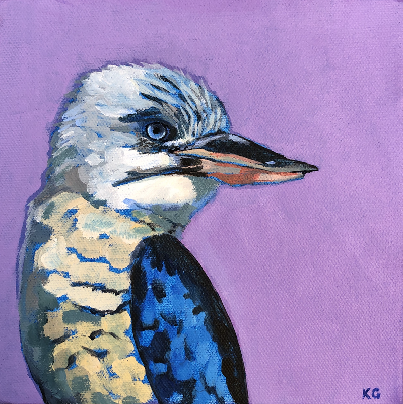 (CreativeWork) Kookie  by Kate Gradwell. Acrylic Paint. Shop online at Bluethumb.