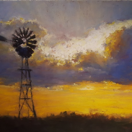 (CreativeWork) Windmill  by William Choi. Drawings. Shop online at Bluethumb.