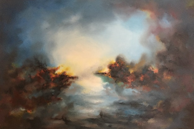 (CreativeWork) The Great Beyond by Victoria Easby. Oil Paint. Shop online at Bluethumb.