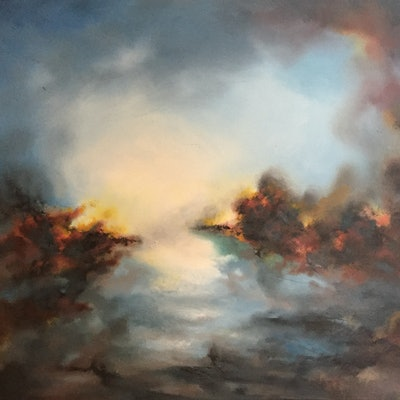 (CreativeWork) The Great Beyond by Victoria Easby. oil-painting. Shop online at Bluethumb.