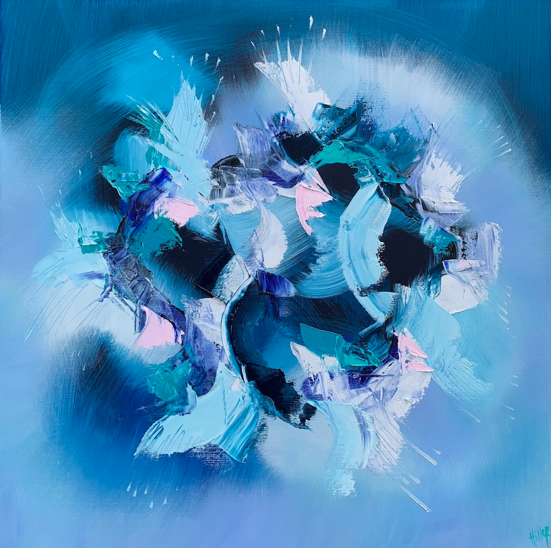 (CreativeWork) Les bleuets by Catherine Hiller. oil-painting. Shop online at Bluethumb.
