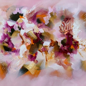 (CreativeWork) Un air de printemps by Catherine Hiller. oil-painting. Shop online at Bluethumb.
