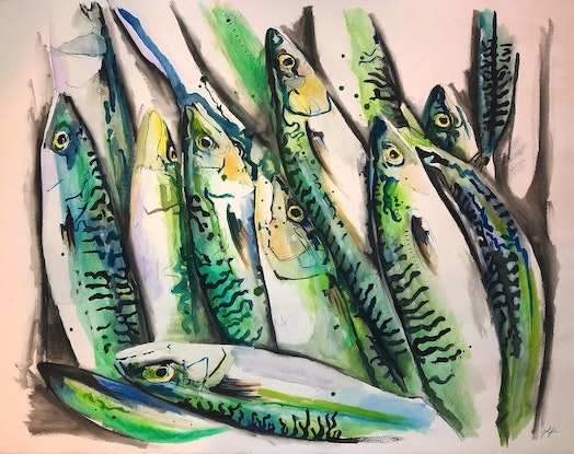 (CreativeWork) Fifty Shades of Fish by Silvia Rubboli Golf. Drawings. Shop online at Bluethumb.
