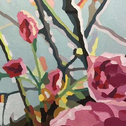 (CreativeWork) Blossom  by Aylee Kim. Oil Paint. Shop online at Bluethumb.