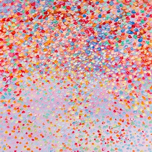 (CreativeWork) Candy Petals  by Theo Papathomas. oil-painting. Shop online at Bluethumb.