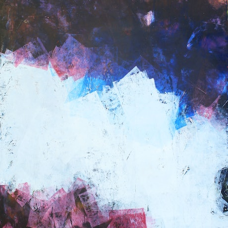 (CreativeWork) Black and Blue II by Jonathon Telcher. Oil Paint. Shop online at Bluethumb.