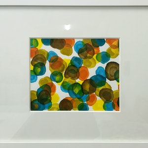 (CreativeWork) Vitae Colour Field - Original Painting Framed by Jacquelyn Stephens. mixed-media. Shop online at Bluethumb.