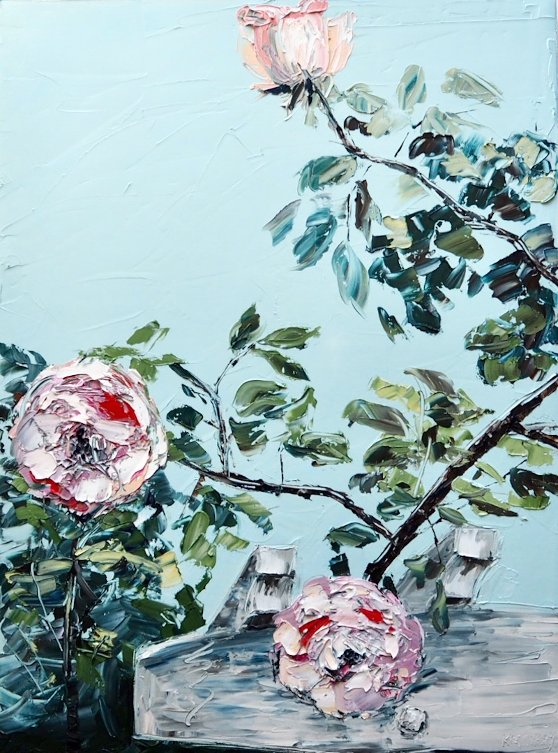 (CreativeWork) 'My Country Garden' by Michelle Keighley. Oil Paint. Shop online at Bluethumb.