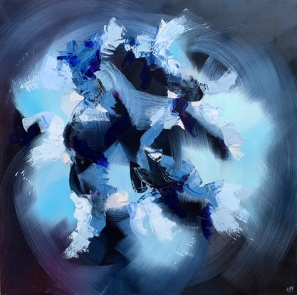 (CreativeWork) Downpour by Catherine Hiller. Oil Paint. Shop online at Bluethumb.