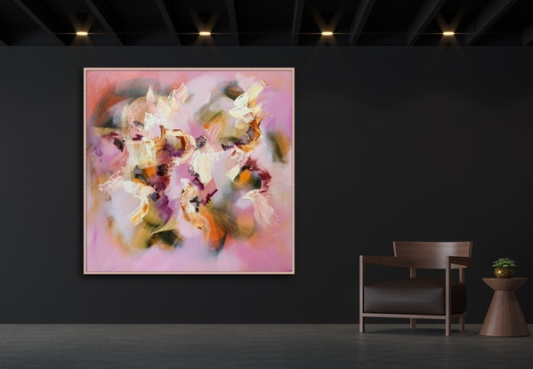 (CreativeWork) Love is all by Catherine Hiller. Oil Paint. Shop online at Bluethumb.