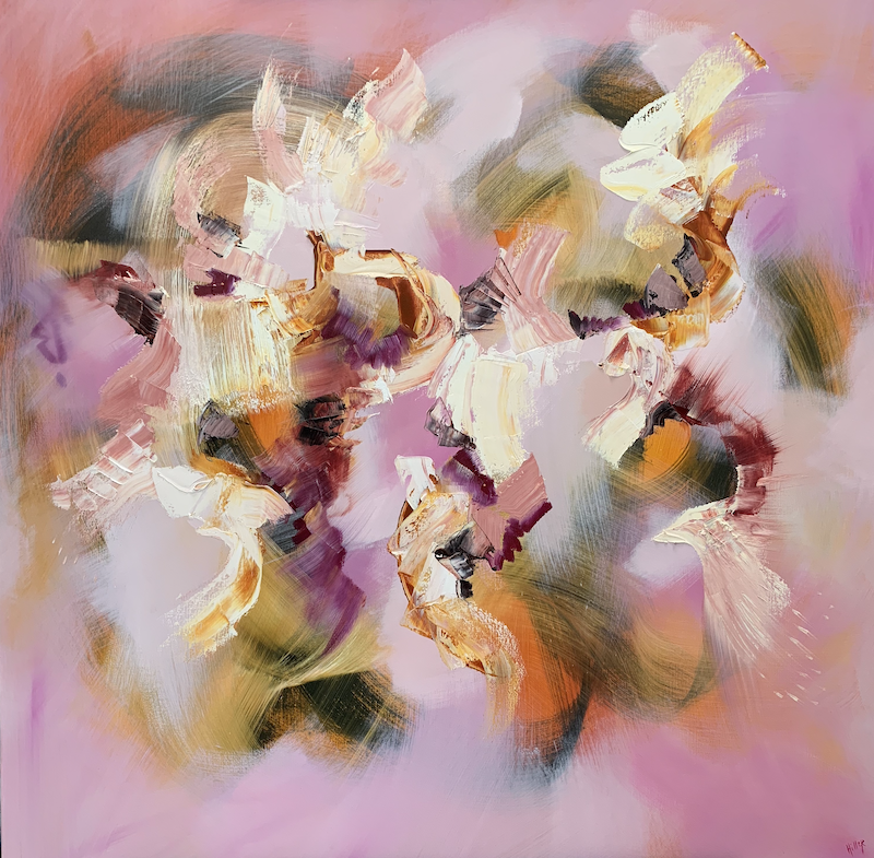 (CreativeWork) Love is all by Catherine Hiller. oil-painting. Shop online at Bluethumb.