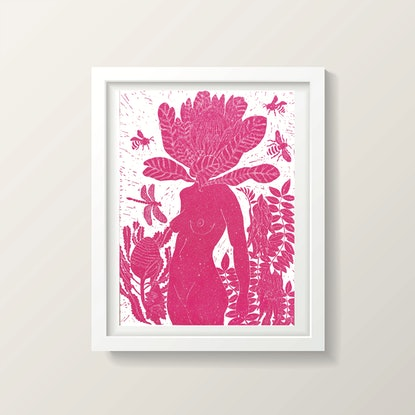 (CreativeWork) Sparkly Pink  Penny Protea Ed. 3 of 50 by Marinka Parnham. Print. Shop online at Bluethumb.