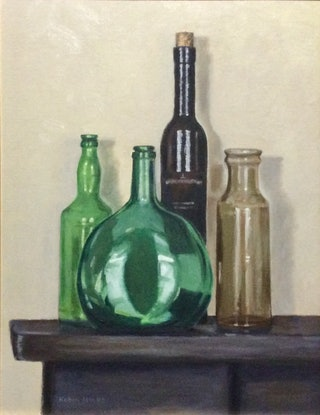 (CreativeWork) Glass glow by Robin Hicks. Oil. Shop online at Bluethumb.
